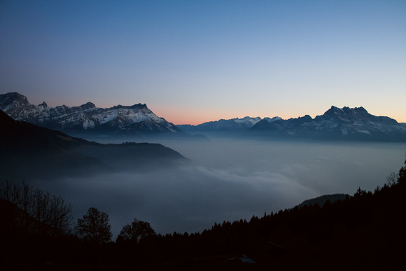 Swiss Alps at Dusk